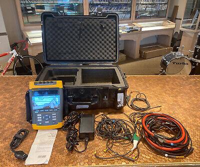 Fluke 435 Industrial 3 Phase Power Quality Analyzer W Case Extra