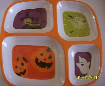Child's Halloween Divided Tray
