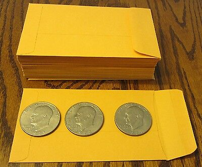 30 Small Kraft Coin Envelopes Size 3.125 X 5.5 Seed Jewelry Parts 5 12