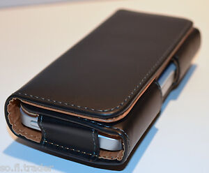 Quality Leather Belt Clip Carrying Case Holster Pouch for Iphone 5