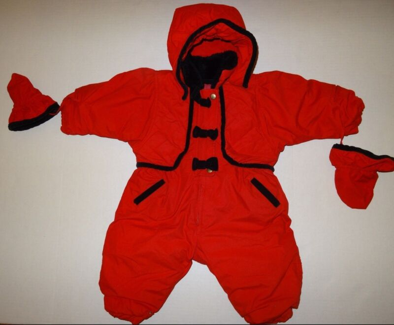 London Fog Baby Snow suit size 18 Months Red