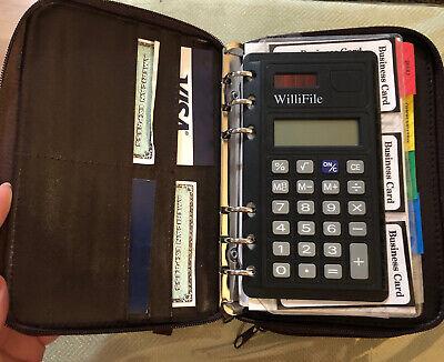 Vtg Personal Agenda 6 Ring Planner Willi Wear Brown Organizer Wristlet New