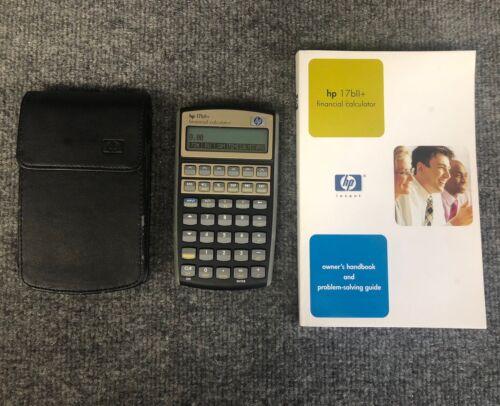 Hewlett-Packard HP 17BII+ Financial Business Calculator W/Manual & Case