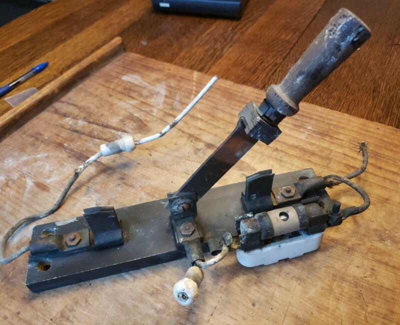Antique Copper Antenna Ground Knife Switch Throw Switch Frankenstein Steampunk