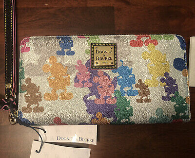 NWT Dooney & Bourke Disney Wonder Mickey Mouse 10th Anniversary Wallet Wristlet