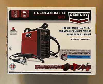 Century Flux-cored Wire Feed Welder 90 Amp 120v Sealed Box