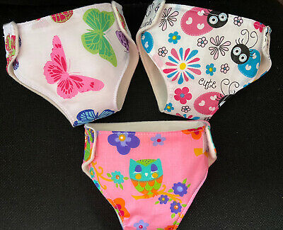 """3 New Dolls Nappies For Baby Annabell Baby Born Dolls Clothes 16-18""""-41-46cm"""