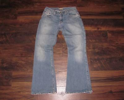 (BKE Buckle jeans size 31 x 33 1/2 Women's Harbor 22 wide leg/flare mid rise fit )