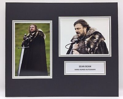 RARE Sean Bean Game Of Thrones Signed Photo Display + COA AUTOGRAPH GOT