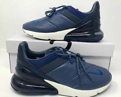 pretty nice 93d74 0bf59 New Nike Air Max 270 Premium Size 12 Leather Diffused Blue Gym Blue AO8283  400