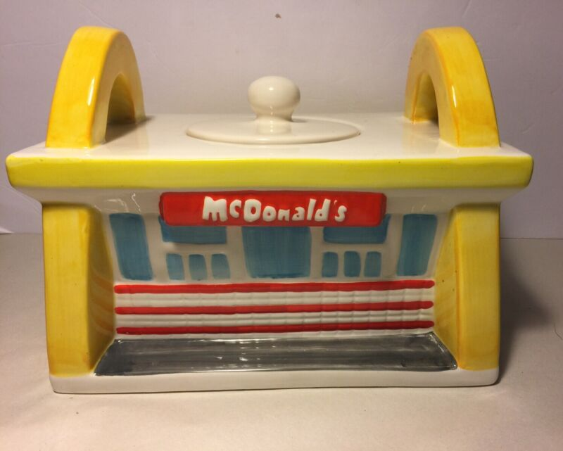 TREASURE CRAFT MCDONALDS RESTAURANT COOKIE JAR GOLDEN ARCHES 1997