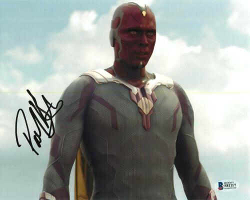 *VISION* Paul Bettany Signed Avengers 8x10 Photo EXACT Proof BAS B Wandavision