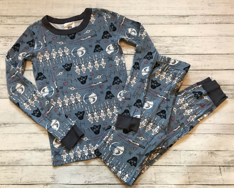 Hanna Andersson Blue Star Wars Valentines Pajamas Long Johns 140 Cm 10 Y