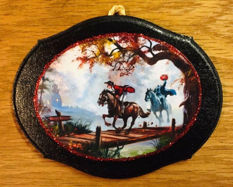 """Sleepy Hollow-Headless Horseman Handmade Halloween Decor """"ICE SPARKLE"""""""