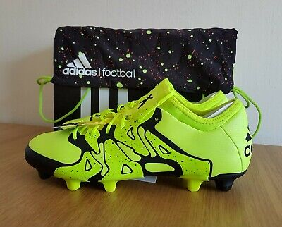 Adidas Mens X 15.1 FG / AG Football Boots Shoes Yellow B32782 UK 6.5 to 12.5