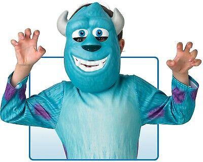 Boys Girls Sully Monsters Inc Halloween Film Fancy Dress Costume Outfit Mask](Sully Girl Costume)