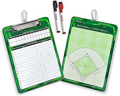 Coaches Boards - 2 Sided Premium Dry Erase Clipboards Baseball Softball Mini