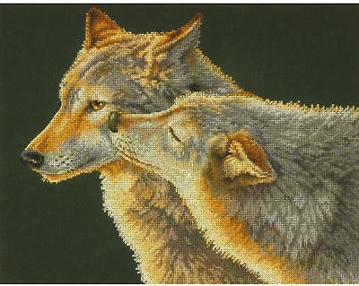 Dimensions Needlecrafts 35283 Wolf Kiss Counted Cross Stitch Kit