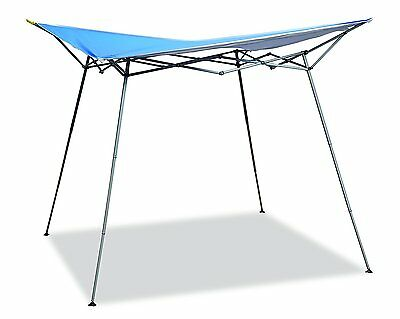 Caravan Canopy 8 ft. x 8 ft. Evo Shade Instant Canopy, Blue Top White Frame New