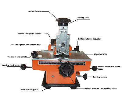 Semi-Automatic Metal Stamp Sheet Embosser Label Mark Print Machine 4mm Letter for sale  Hayward
