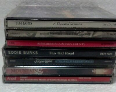 Lot of 7 Music CD's eclectic genre. NOT TESTED. All CD's look clean and playable