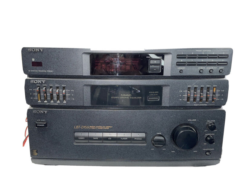 Sony STR-D159 Hi-Fidelity Stereo System 5 Band Stereo Graphic Equalizer