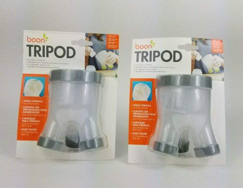 Lot Of 2 Boon Tripod Formula Container. Gray. Brand New.