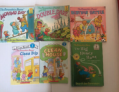 Lot of 6 The Berenstain Bears Books First Time Books & Level 1 I Can Read