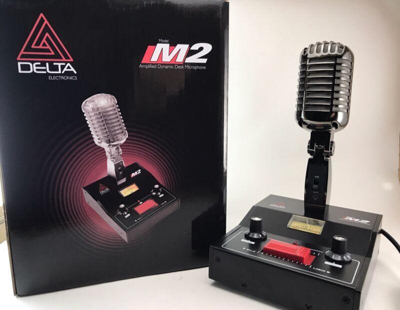 8 PIN for YAESU BLACK CHROME DELTA M2 AMPLIFIED POWER BASE MICROPHONE HAM MIC