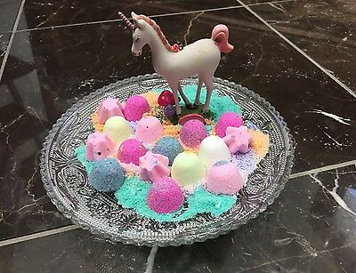 24 Bath Bomb Lot Unicorn Kisses Fun Healthy Birthday Party Favors Gift Fast Ship - Bomb Party