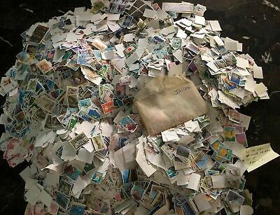 1000000's Collection lot of 200 pcs unpicked off paper Japan Stamps Nippon