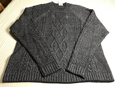 Abercrombie & Fitch  DARK GRAY CABLE KNIT  SWEATER  NWT X LARGE