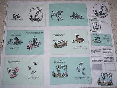 Disney Bambi Hello Little One soft book Panel Fabric 100% Cotton Springs for sale  Muskegon