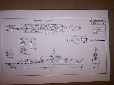 USS FLETCHER  boat model  plan