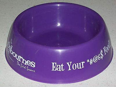 Dog food Pet bowl dish Ozzy Osbournes Sharon Kelly Ozzie Reality TV show Xmas  for sale  Shipping to India