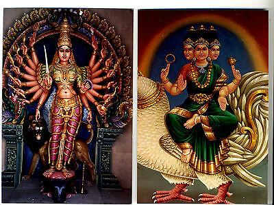 Sri BRAHMI - MATRKA & Sri LEKSHMI Durga INDIA Hindu DEITY Photos