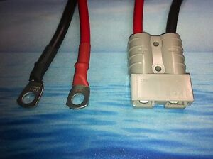Anderson Lead 50amp plug  to 8mm Lugs, 6B&S 100 amp cable lead 1 Metres