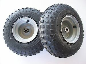 (2)  Go-kart / ATV, tire and wheel assembly, 145/70-6 , kd14576fla,