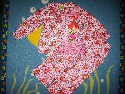 Pebbles Flintstone Pajamas Sleepwear 2pc Set Top Bottoms Size 4t