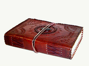 Handmade Leather Sketchbook Scrapbook Diary Journal Notebook - Stone / All Sizes