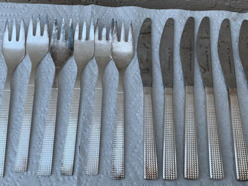 12 PIECES BRITISH AIRWAYS 1ST CLASS VINTAGE FLATWARE 06/86