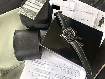 BREITLING SUPEROCEAN HERITAGE 38MM DIVERS WATCH. JUST SERVICED WITH PAPERWORK!!