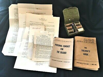 Military Ephemera Korean War Soldier's Guide & Conduct Booklets, Info Letters, S
