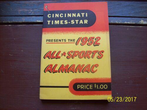 1952 ALL-SPORTS ALMANAC- CINCINATTI TIMES  STAR-256 PAGES