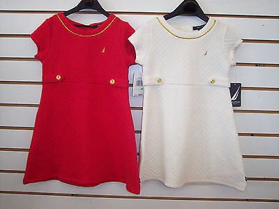 Infant, Toddler, & Girls Nautica $36.50-$38.50 Red or Natural Dress Size 12 mo-5
