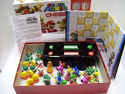 Super Mario Chess   Checkers Set Collectors Edition  Euc    Rare