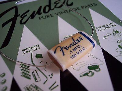 Genuine Fender Pure Vintage Wax Paper Capacitor .10uf @ 150v Strat Tele 50's 60'