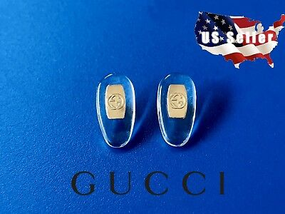 NEW Gold Gucci Replacement Silicone Nose Pads for Sunglasses Eyeglasses (Screws For Sunglasses)