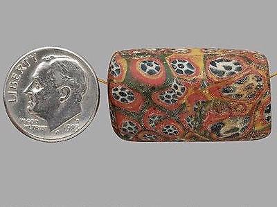 Rare Ancient Roman Mosaic Bead ~ c. 100 BC-  400 AD - Large 29.73mm x 16.89mm