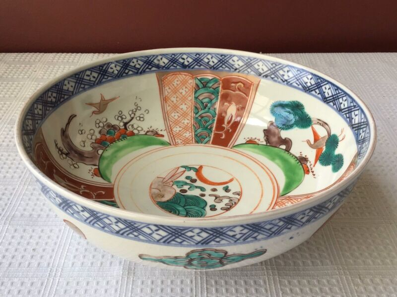 Antique Chinese Handmade & Hand Painted Porcelain Bowl